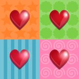 Shiny hearts Royalty Free Stock Photography