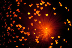 Shiny hearts background Royalty Free Stock Photos