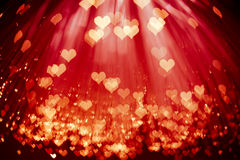 Shiny hearts background Stock Photography