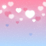 Shiny hearts background Royalty Free Stock Photo