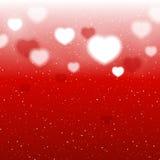 Shiny hearts background Stock Photography