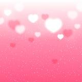 Shiny hearts background Royalty Free Stock Photography