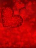 Shiny hearts bokeh light Valentine's day. Stock Image