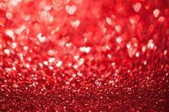 Shiny hearts bokeh Stock Photo