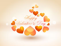 Shiny hearts for Happy Valentines Day celebration. Royalty Free Stock Images