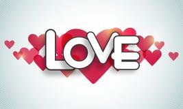Shiny hearts for Happy Valentines Day celebration. Royalty Free Stock Photography