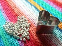 Shiny hearts Royalty Free Stock Image