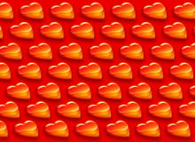 Shiny Hearts Pattern Royalty Free Stock Photography