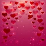 Shiny hearts Royalty Free Stock Photography