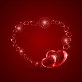 Shiny hearts Royalty Free Stock Photo