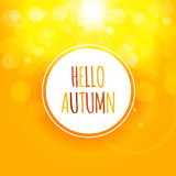 Shiny Hello Autumn Natural Leaves Background. Vector Illustration. EPS10 Royalty Free Stock Images