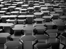 Shiny hexagon metal bars background Stock Images