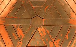 The shiny hexagon. An old wooden surface with beautiful hexagon pattern, good for background and texture design royalty free stock images