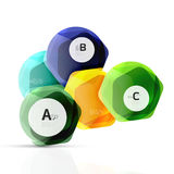 Shiny hexagons with infographics options Royalty Free Stock Photo