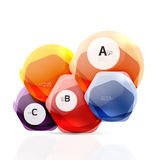 Shiny hexagons with infographics options Royalty Free Stock Photos