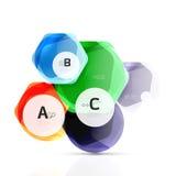 Shiny hexagons with infographics options Stock Photo