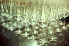 Shiny High Glasses Ready for Drinks Stock Images