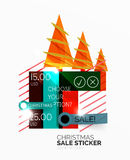 Shiny holiday New Year and Christmas sale banners Royalty Free Stock Image