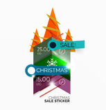 Shiny holiday New Year and Christmas sale banners Royalty Free Stock Photos