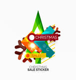 Shiny holiday New Year and Christmas sale banners. Vector promotional and info templates Royalty Free Stock Image