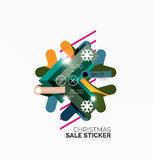 Shiny holiday New Year and Christmas sale banners. Vector promotional and info templates royalty free illustration
