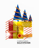 Shiny holiday New Year and Christmas sale banners. Vector promotional and info templates vector illustration