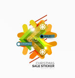 Shiny holiday New Year and Christmas sale banners. Vector promotional and info templates Royalty Free Stock Images