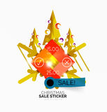 Shiny holiday New Year and Christmas sale banners Stock Images