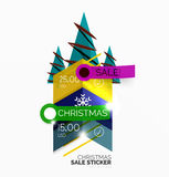 Shiny holiday New Year and Christmas sale banners Royalty Free Stock Photography