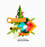 Shiny holiday New Year and Christmas sale banners Royalty Free Stock Images