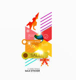 Shiny holiday New Year and Christmas sale banners. Vector promotional and info templates Stock Image