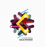 Shiny holiday New Year and Christmas sale banners Stock Image