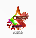 Shiny holiday New Year and Christmas sale banners Stock Photo