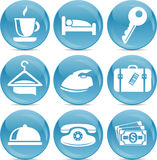 Shiny hotel icons in vector Stock Photography