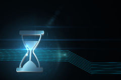 Shiny hourglass Royalty Free Stock Images