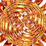 Shiny hypnotic circle Stock Image