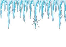 Shiny icicles Stock Photos