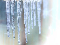 Shiny Icicles Royalty Free Stock Photos