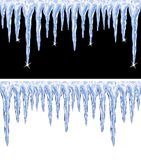 vector shiny icicles Royalty Free Stock Images