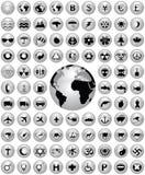 Shiny icon collection. Various vector shiny icon collection Royalty Free Stock Photos