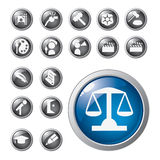Shiny icons Royalty Free Stock Photo