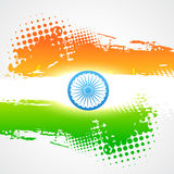 Shiny indian flag Royalty Free Stock Photos