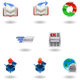Shiny internet browser icon set Royalty Free Stock Images