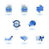 Shiny internet browser icon set Stock Photo