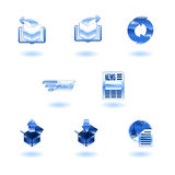 Shiny internet browser icon set Royalty Free Stock Photo