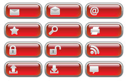Shiny Internet  buttons set Stock Photos