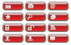 Shiny Internet  buttons set Stock Photos