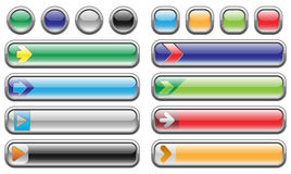 Shiny internet buttons set Royalty Free Stock Image
