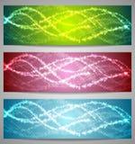 Shiny iridescent banners design Stock Image