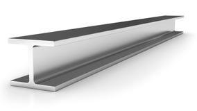 Shiny iron joist. Isolated on white background Stock Images